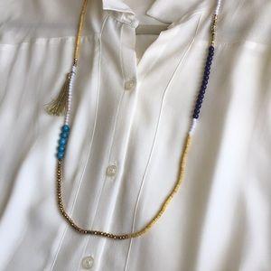 Loft Bead and Tassel Necklace